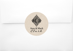 Wedding Monogram Sticker