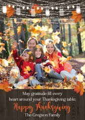 Rustic Mason Jar Thanksgiving Photo Card