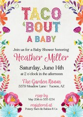 Taco About A Baby Shower Invitation