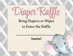 Diaper Raffle-Elephant Pink