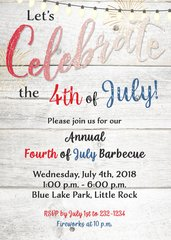 Celebrate Fourth of July Invitation
