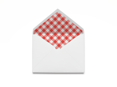 Red & White Checkered Envelope