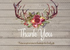 Antler Fall Thank You Card