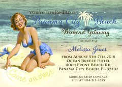 Bachelorette Beach Weekend Party Invitation