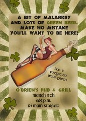 St Patricks Party Invitation