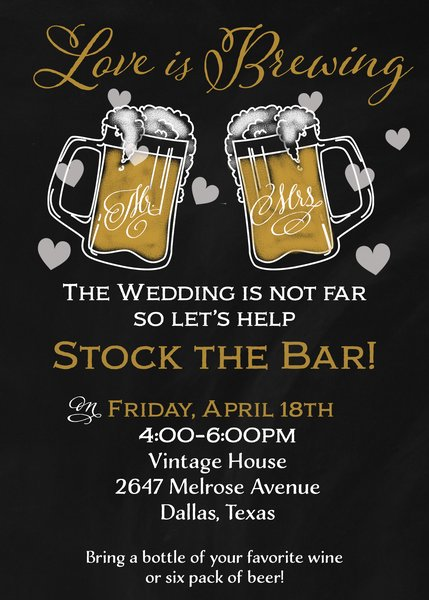 Love is Brewing Beer Bridal Shower Invitation