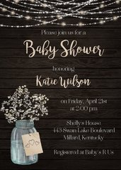 Babys Breath Shower Invitation