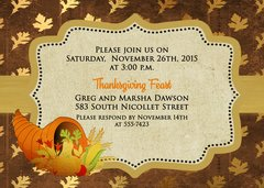 Thanksgiving Dinner Invitation Brown