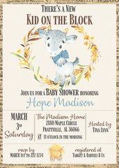 New Kid on the Block Baby Shower Invitation