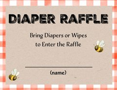 Diaper Raffle Little Lumberjack