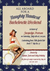 Nautical Bachelorette Weekend Party Invitation