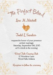 Perfect Blend Wedding Invitation