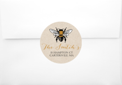 Honey Bee Return Address Sticker