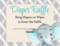 Diaper Raffle-Elephant Blue