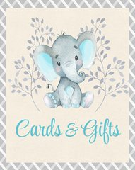 Cards & Gifts Sign Elephant Boy