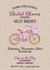 Bike Bridal Shower Invitation