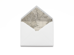 Vintage Map Envelope