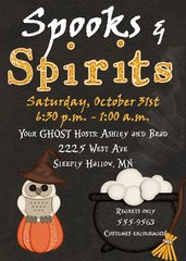 Spooks and Spirits Halloween Invitation