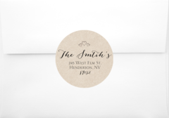 Rustic Heart Return Address Sticker