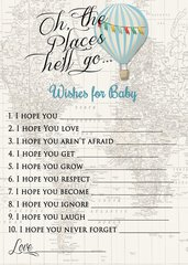 Wishes for Baby Hot Air Balloon Boy