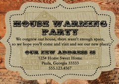 Rustic Housewarming Invitation