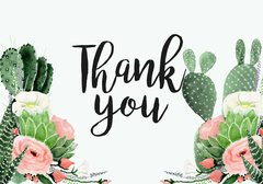 Watercolor Fiesta Thank You Card