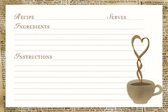 Hot Coffee Recipe Card