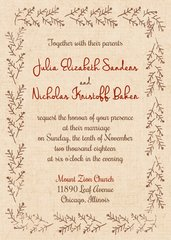 Rustic Winter Wedding Invitation