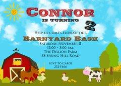 Barnyard Birthday Bash Invitation