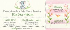 Watercolor Elephant Baby Shower Invitation