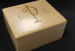ENGRAVED MAPLE TREASURE BOX