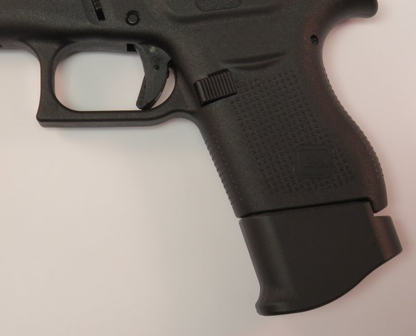 glock g43 9mm grip extension magazine adamsgrips extended adams grips. Black Bedroom Furniture Sets. Home Design Ideas