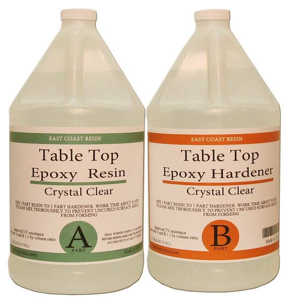 Table Top Epoxy Resin Kit 2 Gallon 1 Gal Resin And 1 Gal