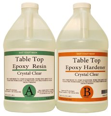 Table Top Epoxy Resin Kit  1 gallon  ( 1/2 gal resin and 1/2 gal Hardener )