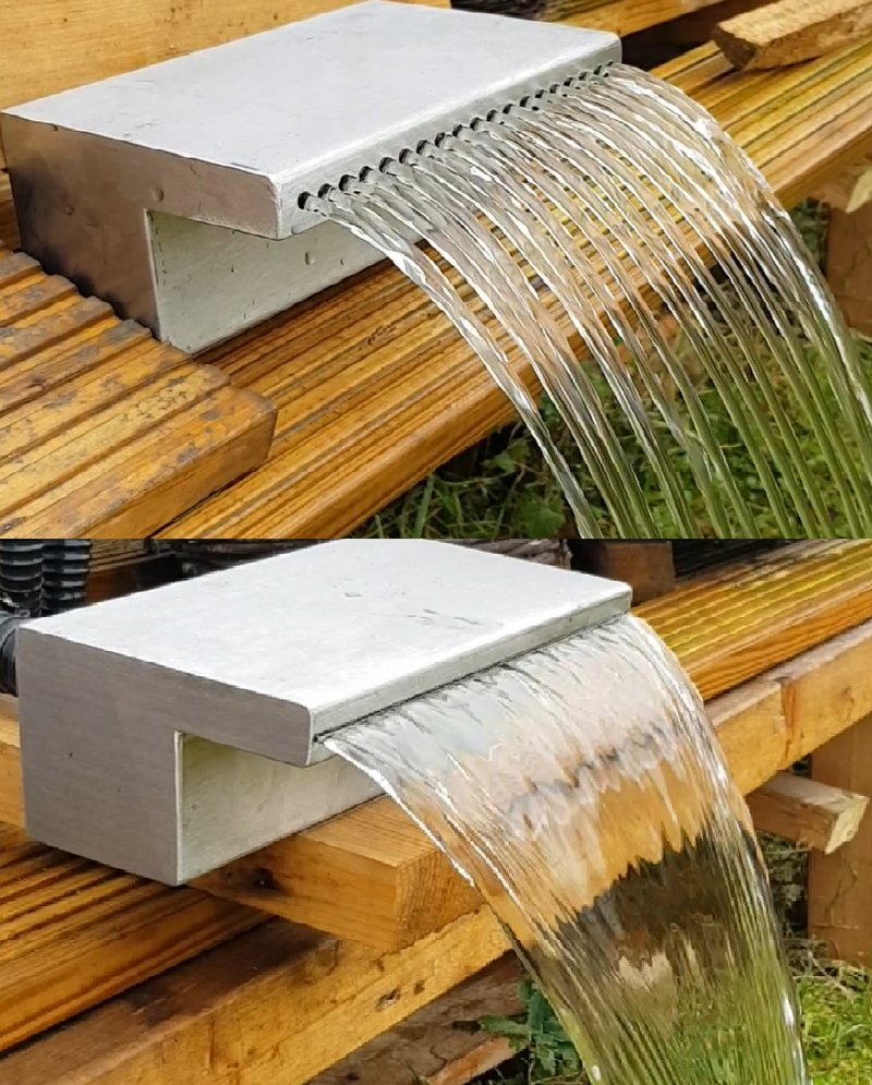 Gravity fed blades water blades stainless steel cascade for Koi pond return jets