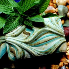 (N1) Ocean Mint Soap - Peppermint and Spearmint Scent