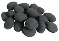 24 Piece Ceramic Fireplace Pebble Set