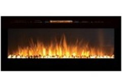 50 Inch Cynergy Pebble Stone Built-In Wall Mounted Electric Fireplace