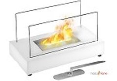 Vigo Ventless Tabletop Bio Ethanol Fireplace in White