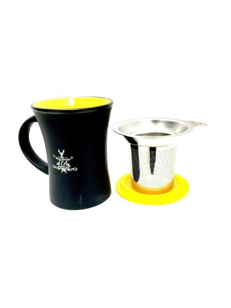 Mug with infuser (yellow)