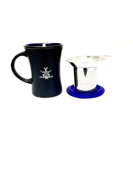 Mug with infuser (purple)