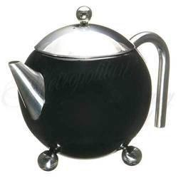 3 - Cup Tea Pot with strainer (Black)