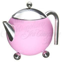 3 - Cup Tea Pot with strainer (Pink)