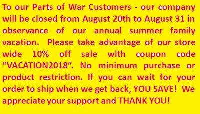 PARTS OF WAR, INC.