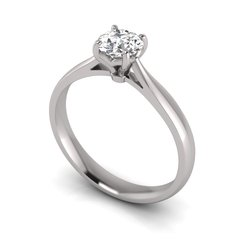 Single Stone 4 Claw Diamond Ring