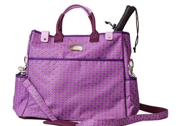 Tennis Tote Bag Pickleball Bag Racketball Bag Purple