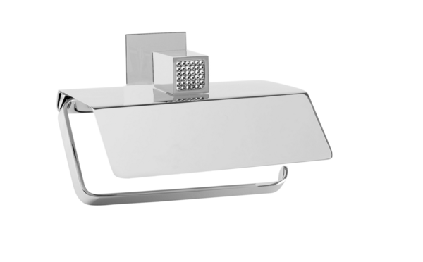 maier. Toilet paper holder w/ cover