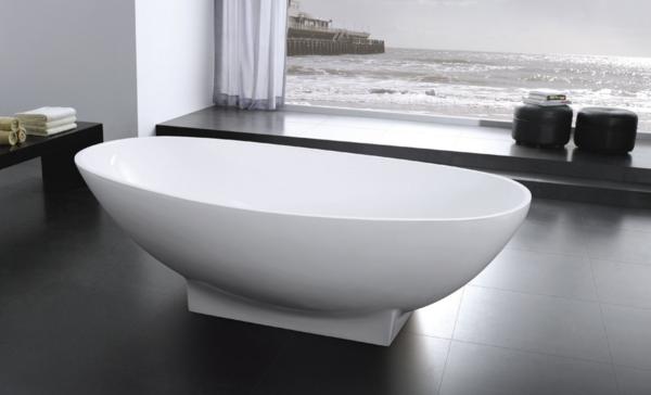 AQUAMOON LISBOA 70 MODERN SOAKING BATHTUB - WHITE