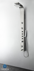 Geona Stainless Steel (Brushed Silver) Thermostatic Shower Massage Panel