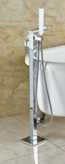 Tub Filler Floor Mounted Chrome OPEN WATERFALL